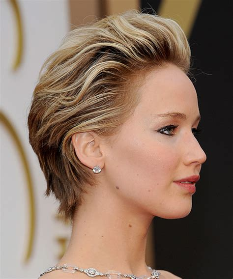 2014 short hairstyles for round faces jennifer lawrence short hair jennifer lawrence short straight formal hairstyle medium