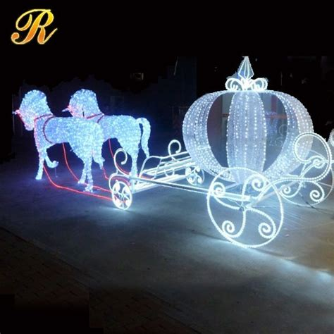lighted horse and carriage outdoor energy saving lighted santa claus outdoor christmas