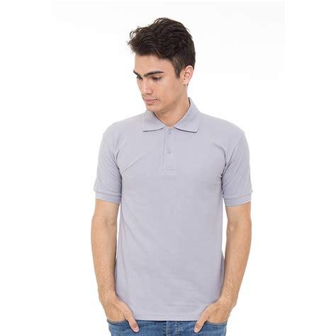 Tshirt Baju Tshirt Kaos Fila edoeyy polo shirt abu muda koas polo polo kaos kerah pria