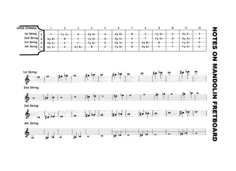note diagram notes on the mandolin fretboard