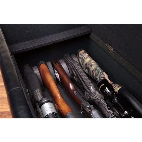 bench gun safe gun concealment furniture locking storage bench firearm