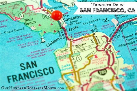 san francisco map of things to do things to do in san francisco ca one hundred dollars a
