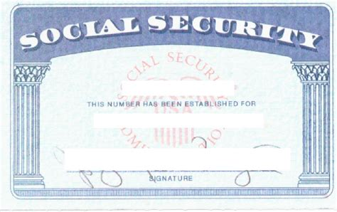 Social Security Card Template by Social Security Card Template Cyberuse