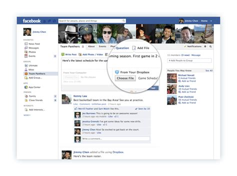fb group share stuff from dropbox in your facebook groups