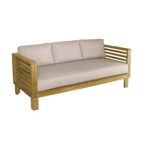 roma divani divano 3 posti in teak roma