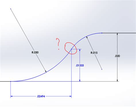 one arcs circle formula for tangent point of two arcs