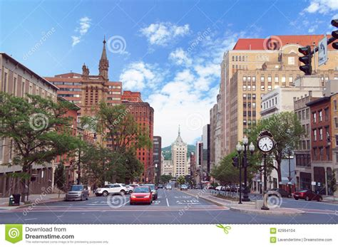 new usa albany new york state capital view stock photo