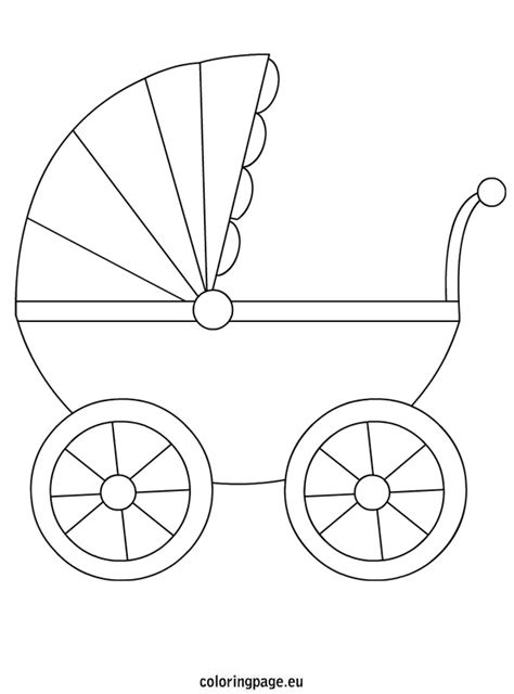 baby stroller template free coloring pages of baby carriage