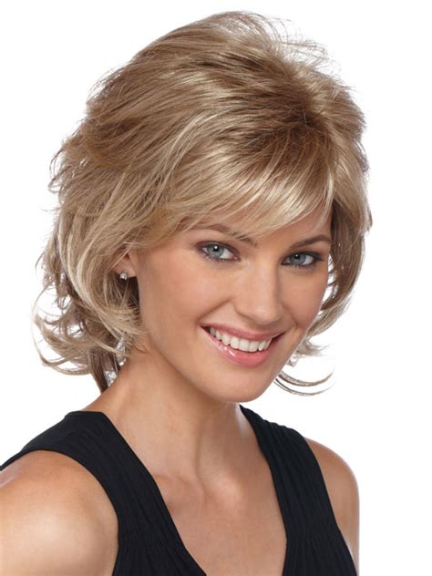 soft curl shaggy hairstyles estetica designs angela wig capless mid length shag with