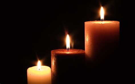 to candela fondos de pantalla de tres candelas tamanos diferentes