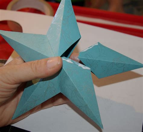How To Make A 3d On Paper - 3d paper ornament and template