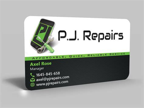 Phone Repair Business Card Template by Business Business Card Design For Inflatablez By