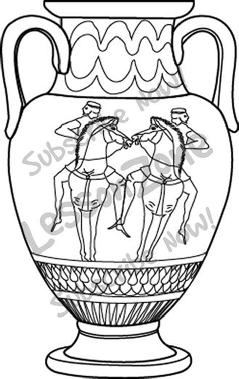 greek vases coloring page greek vases clipart bbcpersian7 collections