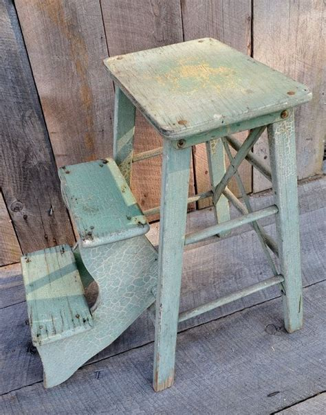 Stool With Fold Out Steps by Light Green Step Stool Wooden Fold Out Steps Kitchen Stool