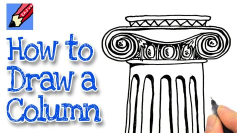 how to make easy doodle how to draw an ionic column real easy