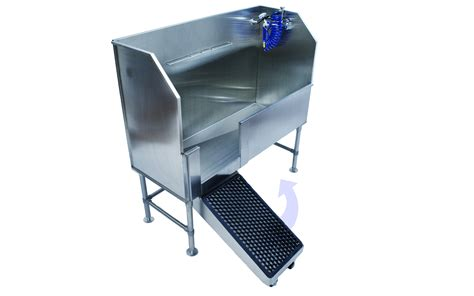 dog washing stainless back saving dog wash tubs a major step up from other