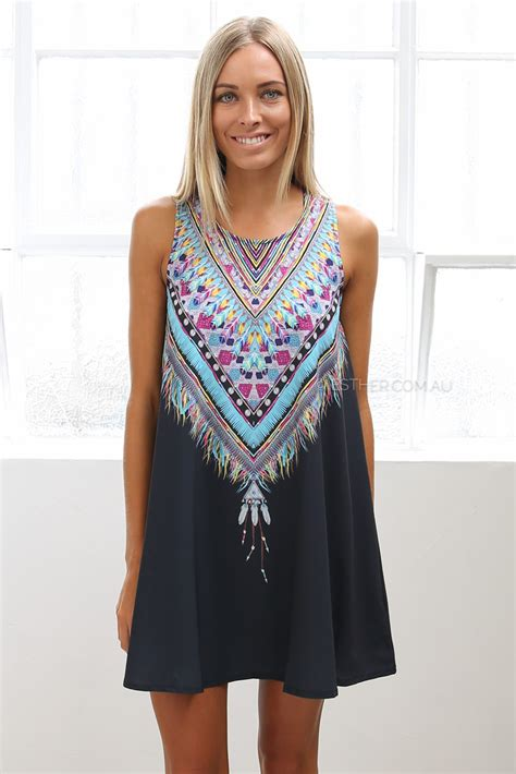 clothing australia feather dress black esther clothing australia and