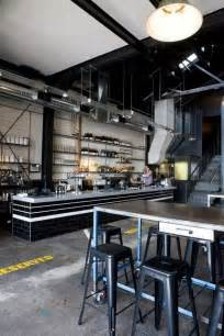 kitchens and interiors industrial bar and black subway tiles on