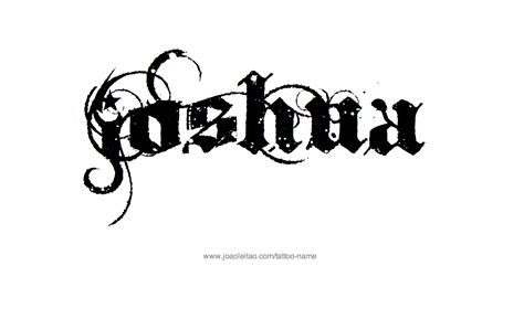 joshua name tattoo designs