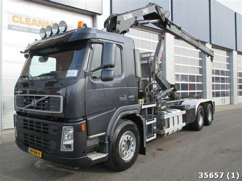 volvo fm  euro   hiab  tonmeter crane hook lift truck  netherlands  sale