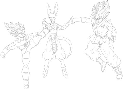 ssgss goku coloring pages vegeta and goku ssgss vs lord beerus lineart by eymsmiley