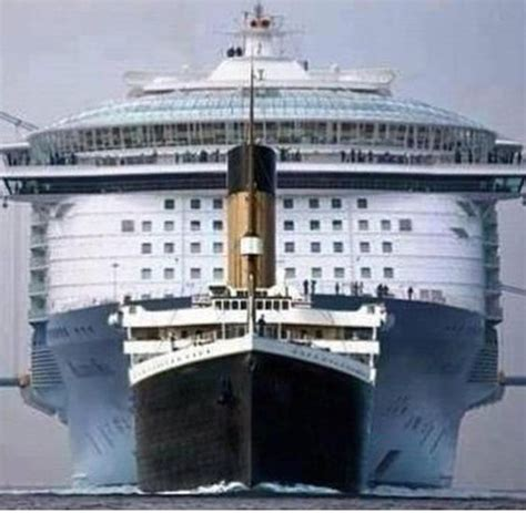 largest cruise line cruise ship in the world vs titanic pics punchaos