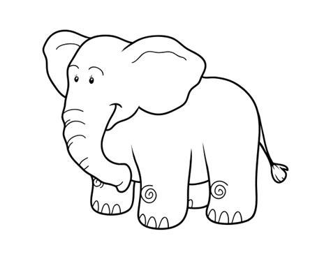 imagenes para colorear elefante dibujo de un elefante africano para colorear dibujos net