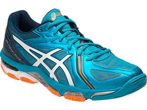 Sepatu Asics Gel Elite 3 asics gel volley elite 3 blue orange bakers tennis shop