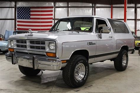 silver 1988 dodge ramcharger for sale mcg marketplace