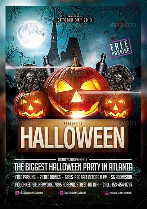 templates for halloween flyers best 25 free and premium halloween party flyer templates 2013