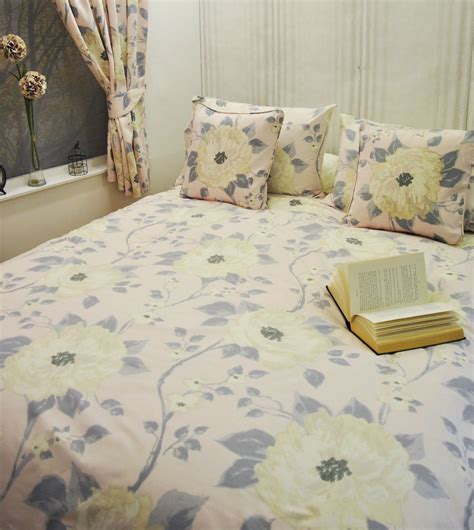 Csa Bedcover Set Tienna King Size floral duvet quilt cover bedding sets single king new duck egg ebay