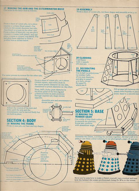 design blueprints dalek design the red lines page