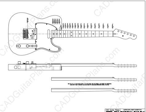 electric acoustic guitar plans pdf telecaster electric guitar plan fender style cad