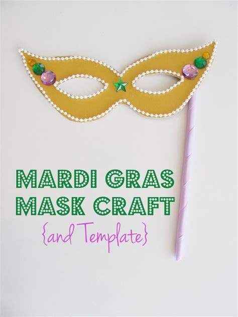 mardi gras mask craft and template woo jr kids