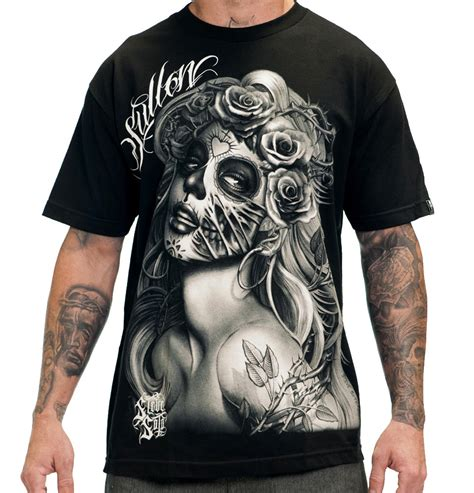 tattoo t shirts for men querida muerta mens clothing sullen