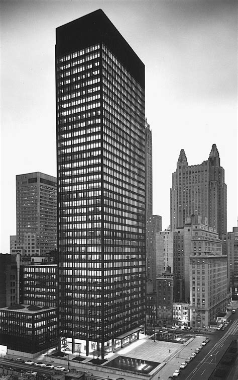 Ludwig Mies Van Der Rohe The Seagram Building New York | seagram building new york city mies van der rohe philip