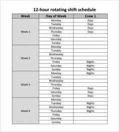 10 hour shift templates 12 hour shift schedule template 7 free word excel pdf