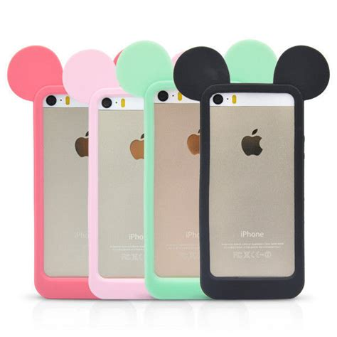 Softcase Disney Tiara Glow In The For Iphone 6g6s disney mickey mouse ears silicone bumper soft for iphone 4s
