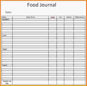 Food Journal Template Free by Food Diary Template Food Journal Template Jpg Letterhead