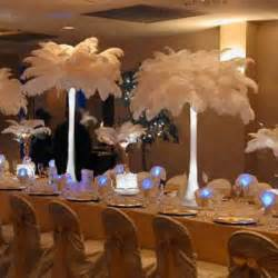 feather table centerpieces ostrich feather centerpieces favors ideas
