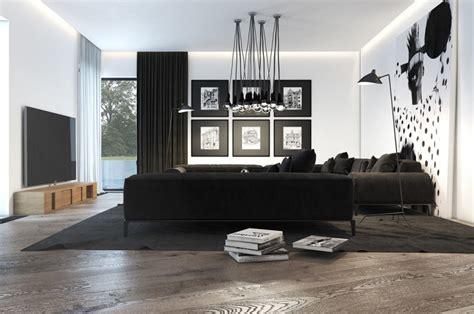 Impressionnant Deco Interieur Maison Contemporaine #3: deco-salon-noir-et-blanc-8.jpg