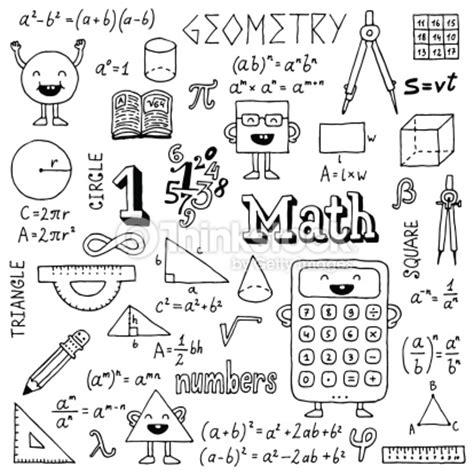 doodle math mathematics vector illustration black and white