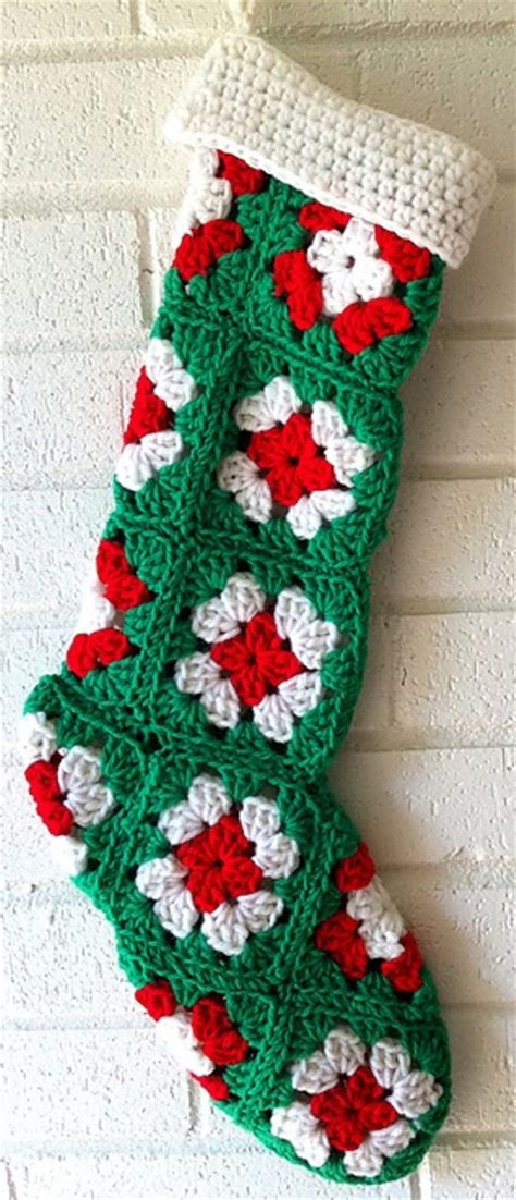 pattern for a crochet christmas stocking free pattern easy to crochet granny square stocking