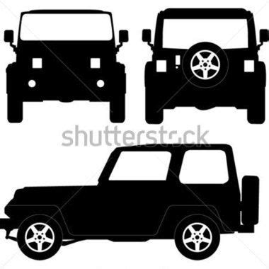 christmas jeep silhouette jeep silhouette clip art cliparts