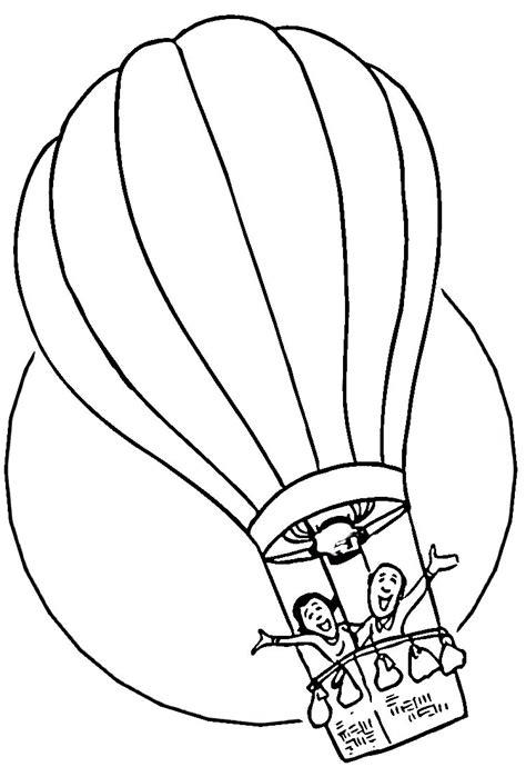 Coloriage montgolfiere à imprimer pour les enfants - CP18587