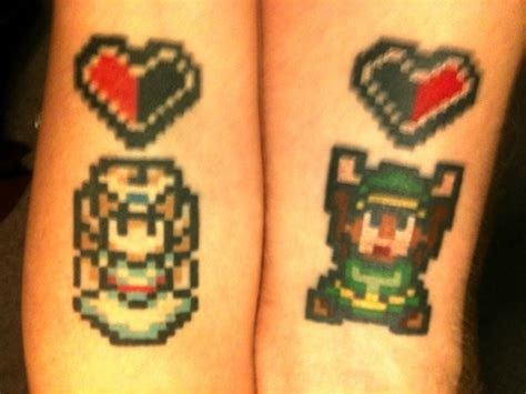 zelda couple tattoos married gets matching tattoos universe