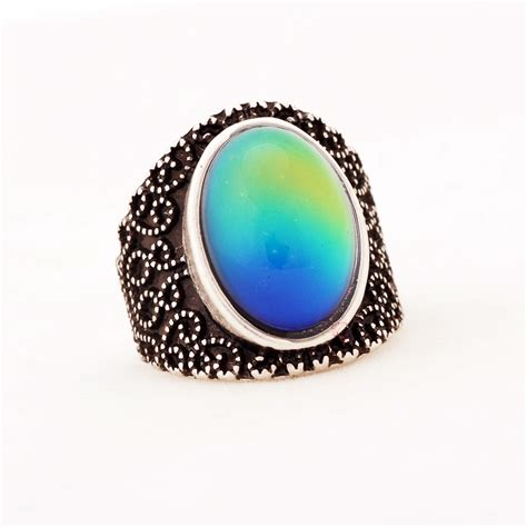 antique oval mood ring magick jewelry