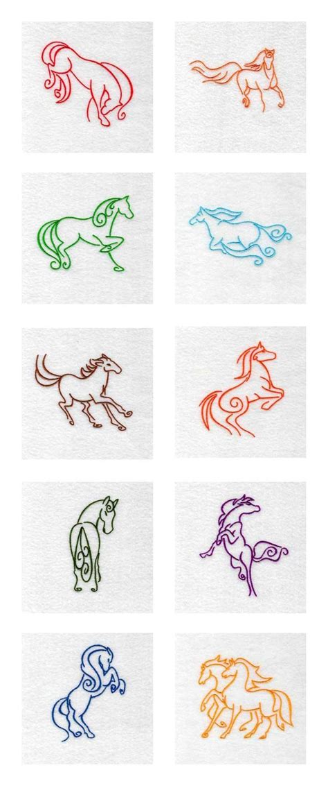 tattoo embroidery designs deco horses embroidery machine design details would
