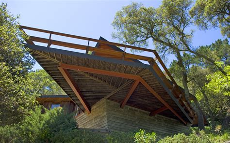 cantilevered deck redwood architecture marin county mid century modern