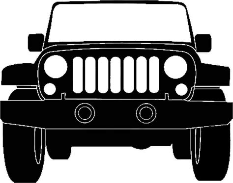 Jeep Silhouette Illustration Jeep Pinterest